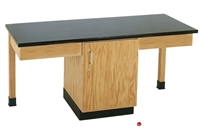 Picture of DEVA 2 Person Student Lab Work Table, Phenolic Resin Top