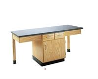 Picture of DEVA 2 Person Student Lab Cabinet Work Table, Plastic Laminate Top