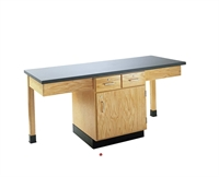 Picture of DEVA 2 Person Student Lab Work Table, Chemical Guard Top