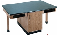 Picture of DEVA 2 Person Student Lab Work Table, Chemical Armor Top