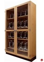 "Picture of DEVA Double Glass Door 84""H Microscope Storage Cabinet"