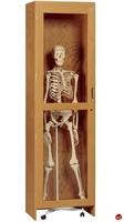 "Picture of DEVA 24""W Glass Single Door Lab Storage Cabinet"