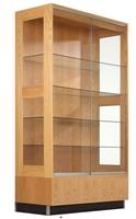 """Picture of DEVA 48"""" Veneer Glass Door Display Storage Cabinet"""