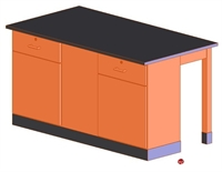 Picture of DEVA Science Lab Study Workstation, Storage Cabinetry