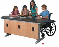 Picture of DEVA Science Lab Height Adjustable ADA Study Workstation