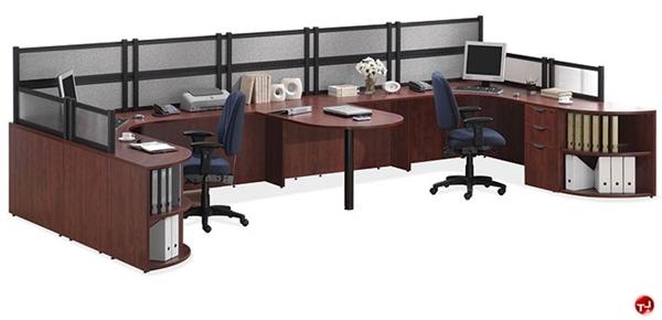 COPTI 2 Person U Shape Office Desk Cubicle Workstation