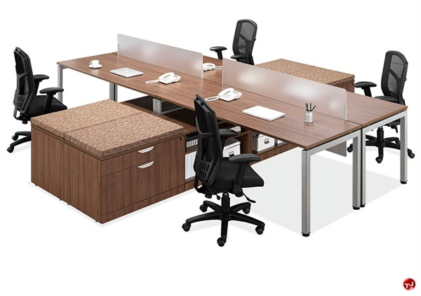 The Office Leader Copti Contemporary 4 Person Bench