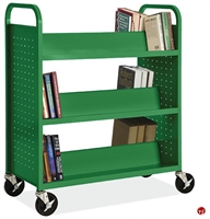 Picture of COPTI Library Double Sided Mobile Steel Book Cart