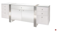 Picture of COX Contemporary Glass Top Credenza Storagez
