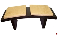 Picture of COX Contemporary 2 Seat Curve Wood Bench
