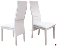 Picture of COX Contempoary White Wood Dining Armless Chair, Set of 2