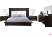 Picture of COX Contemporary Bedroom Set, Dresser with Mirror and Nightstand