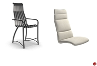 Picture of Homecrest Andover Aluminum Outdoor Stool Chair with Cushion