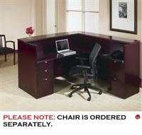 Picture of QSP  Veneer L Shape Reception Desk Workstation