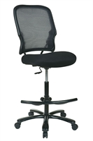 Picture of Big and Tall Armless Mesh Drafting Stool Chair