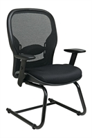 Picture of Ergonomic Sled Base Mesh Guest Side Chair with Arms
