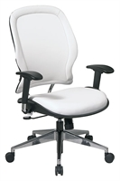 Picture of Ergonomic Mid Back White Office Task Chair