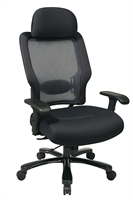 Picture of Big and Tall High Back Ergonomic Mesh Chair iwth Headrest
