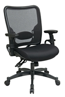 Picture of Ergonomic Multi Function Mid Back Office Task Mesh Chair with Adjustable Lumbar