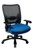 Picture of Big and Tall Ergonomic Mesh Swivel Chair with Adjustable Arms