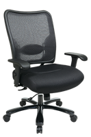 Picture of Big and Tall Ergonomc Mesh Office Swivel Chair with Adjustable Lumbar