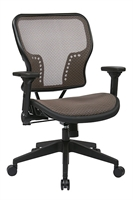 Picture of Ergonomic Mid Back Office Task Mesh Chair with Adjustable Arms