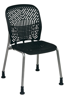 Picture of Ergonomic Heavy Duty Armless Plastic Stack Chair, Pack of 2