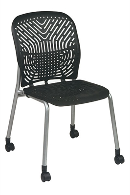 Picture of Ergonomic Heavy Duty Armless Plastic Mobile Chair, Pack of 2
