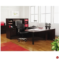 """Picture of 72"""" U Shape D Top Office Desk Workstation with Overhead Storage"""
