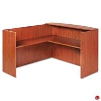 "Picture of 72"" L Shape Reception Desk Workstation"