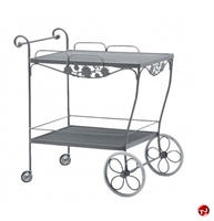 Picture of GRID Outdoor Wrought Iron Mobile Tea Cart