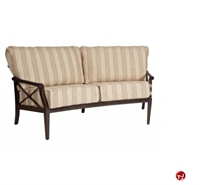 Picture of GRID Outdoor Aluminum 2 Seat Loveseat Sofa with Padded Cushion