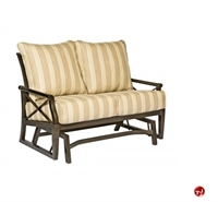 Picture of GRID Outdoor Aluminum 2 Seat Loveseat Glider with Padded Cushion