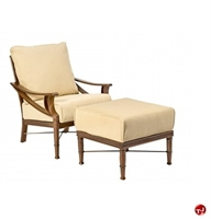 Picture of GRID Outdoor Aluminum Padded Cushion Lounge Chair with Ottoman