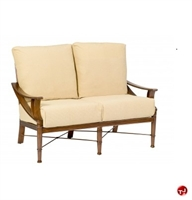 Picture of GRID Outdoor Aluminum Padded Cushion 2 Seat Loveseat Chair