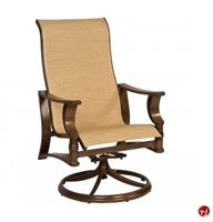 Picture of GRID Outdoor Aluminum High Back Swivel Rocker Sling Arm Chair