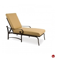 Picture of GRID Outdoor Aluminum Padded Cushion Adjustable Chaise Lounge