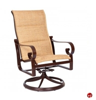 Picture of GRID Outdoor Aluminum High Back Padded Swivel Rocker Chair