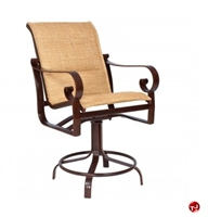 Picture of GRID Outdoor Aluminum Padded Counter Height Stool Chair