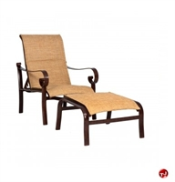 Picture of GRID Outdoor Aluminum Padded Adjustable Lounge Chair with Ottoman