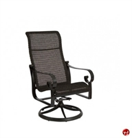 Picture of GRID Outdoor Aluminum High Back Swivel Rocker Arm Chair