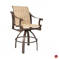 Picture of GRID Outdoor Aluminum Padded Swivel Counter Stool Chair