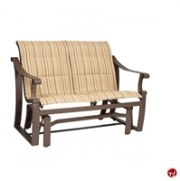 Picture of GRID Outdoor Aluminum Padded 2 Seat Loveseat Glider