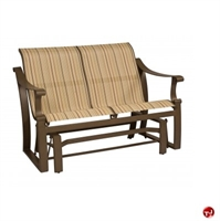 Picture of GRID Outdoor Aluminum 2 Seat Loveseat Sling Glider