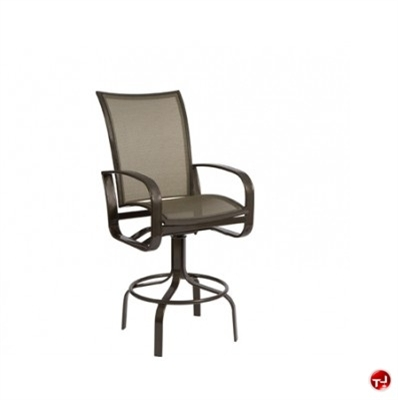 Picture of GRID Outdoor Aluminum Mesh Swivel Barstool Chair
