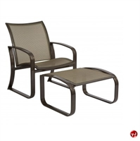 Picture of GRID Outdoor Aluminum Mesh Lounge Chair with Ottoman