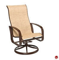 Picture of GRID Outdoor Aluminum High Back Swivel Rocking Chair
