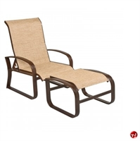 Picture of GRID Outdoor Aluminum Adjustable Lounge Sling Chair with Ottoman