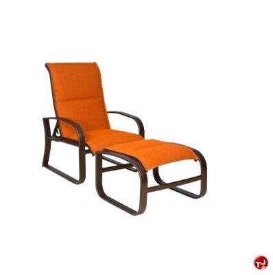 Astounding The Office Leader Grid Outdoor Aluminum Padded Adjustable Machost Co Dining Chair Design Ideas Machostcouk