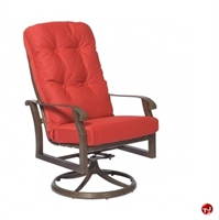 Picture of GRID Outdoor Aluminum Thick Cushion Swivel Rocker Arm Chair
